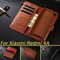 Funda para Xiaomi Redmi 4A Cartera de lujo PU Funda de cuero con soporte para tarjetas abatibles funda de teléfono para Xiaomi Redmi 4A