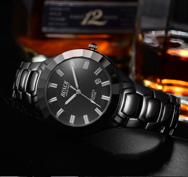 BOSCK 8123 Relogio Masculino Fashion Montre Homme Reloj Hombre Quartz-Watch men Watch Leather Wristwatches