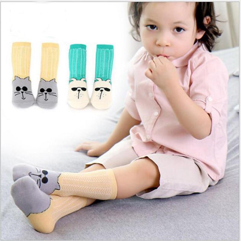 Newborn Toddler knee high sock Baby Boy bebe Girl Cat Socks cotton Cute Cartoon Animal Cat leg warmers For newborns infantile