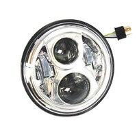 1pcs X Chrome 7 Round 8700 LED Projector Headlights for Motorcycle Harley Wrangler CJ JK 07 15 Head Light