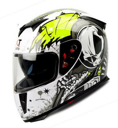 New Arrival Brand Gxt Cool Men Motorcycle Helmet 3d Skeleton Racing