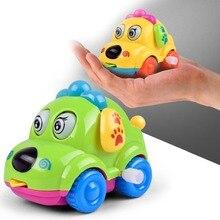 Купить с кэшбэком Wind Up Toys Crawling Kids Mini Jumping Pull Back Gift Cartoon Animal Dog Running Car Clockwork Classic Cute Baby Toys Infant