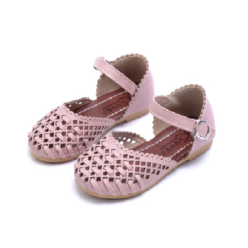 Children Shoes Girls Sandals 2017 Spring Summer Fashion Cutout Princess Girls Flat Soft Closed Toe Kids Sandals Girls Shoes