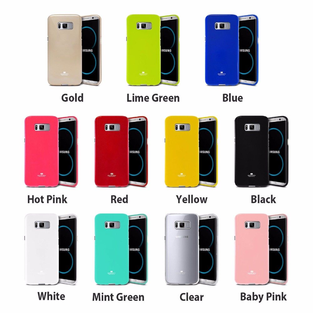 Buy Goospery Pearl Jelly Slim Tpu Bumper Case Cover Samsung S8 Plus Hybrid Dream Jet Black And Soft Is The Best Protect Durable Feeling