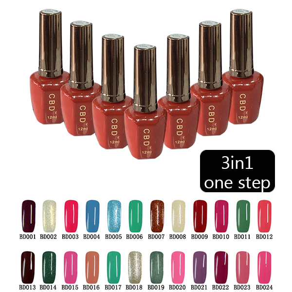 US $6 0  Hot! CBD 12ML 3IN1 ONE STEP SOAK OFF GEL NAIL POLISH NAIL ART  COLOR GEL-in Nail Gel from Beauty & Health on Aliexpress com   Alibaba Group