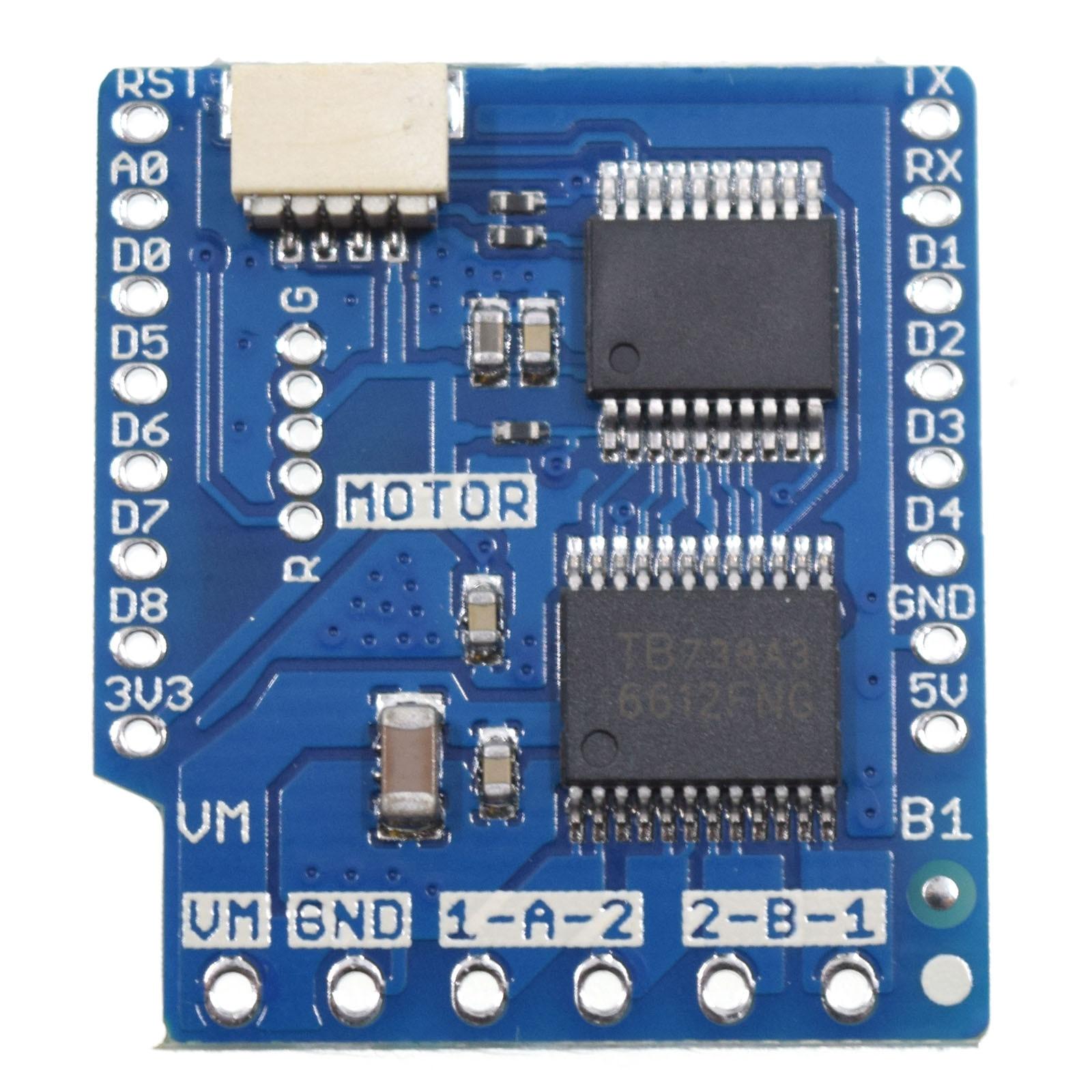 Motor Shield v2.0.0 For LOLIN (WEMOS) D1 mini I2C Dual Motor Driver TB6612FNG (1A) V1.0.0