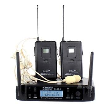 Профессиональный микрофон GLXD4 600 650 МГц, Беспроводная микрофонная система, 2 канала, беспроводной корпус, передатчик, наушники, гарнитура