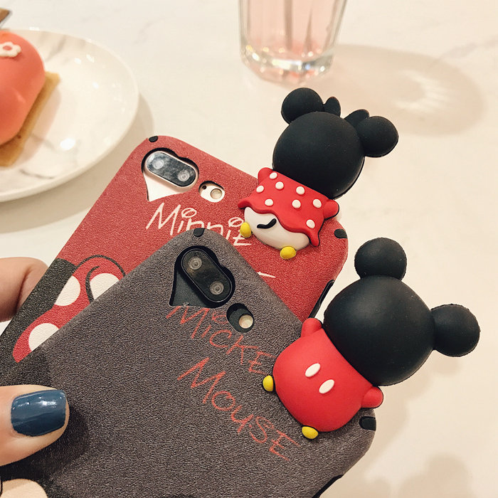 3D Cute Mickey Minnie Mouse Donald Duck Case For iphone 6 Plus Cartoon Case For iphone 7 6s Plus Soft Silicon Case Capa Fundas