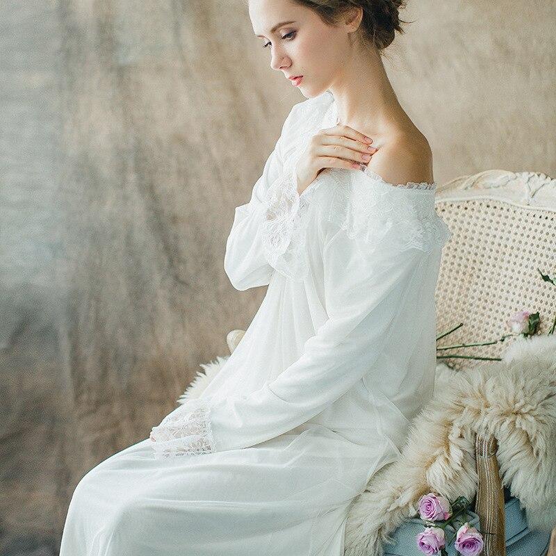 Les Femmes enceintes Chemises de Nuit Sleepshirt 2017 Dentelle Vêtements De Nuit De Cru Chemise De Nuit Solide chemise de Nuit Femelle Robe de La Maison CC594