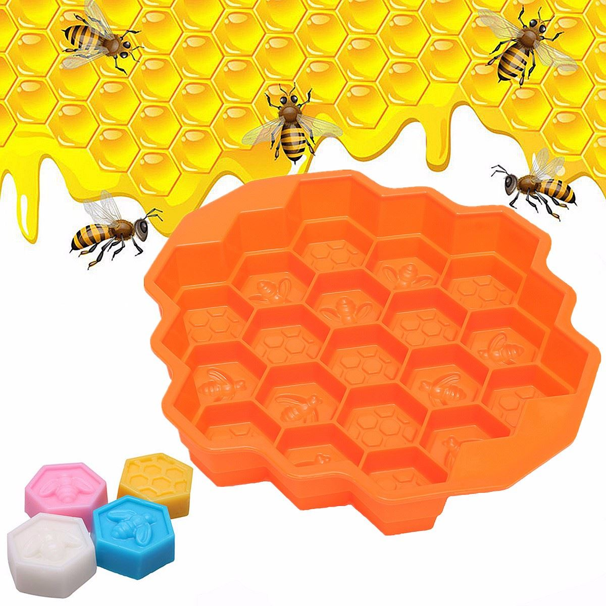 Honey Comb Honey Mold Silicone Cake Pan Comb Bees Soap