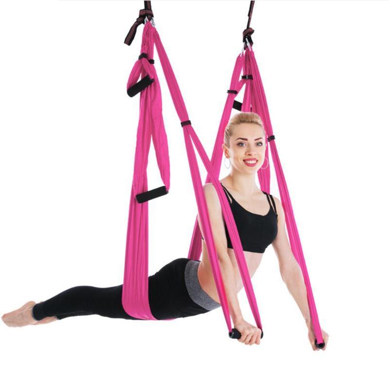 Balançoire accrochante de Yoga d'hamac de Yoga de décompression d'anti-gravité de thérapie d'inversion de tissu de Parachute de haute résistance