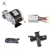 LINGYING MY1016Z 24V 36V DC 350W Brushed Motor Kit With 36V Controller Electric Bike Conversion Kit E scooter Ebike Sets