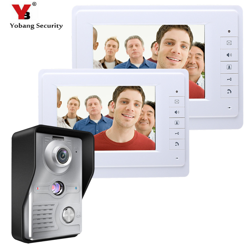 Yobang Security Video Door Phone Doorbell Camera System Wired 7 Inch Display Monitor Control Doorbell Unlock For Home Security