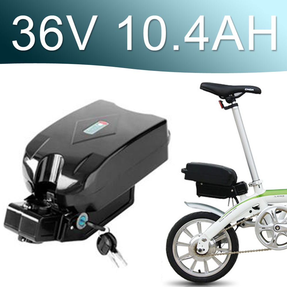 36V 10.4Ah Lithium ion Battery fro g typ Rear Battery Pack 36V Electric bicycle 36v E-bike battery free customs taxes electric bike 36v 40ah lithium ion battery pack for 36v 8fun bafang 750w 1000w moto for panasonic cell
