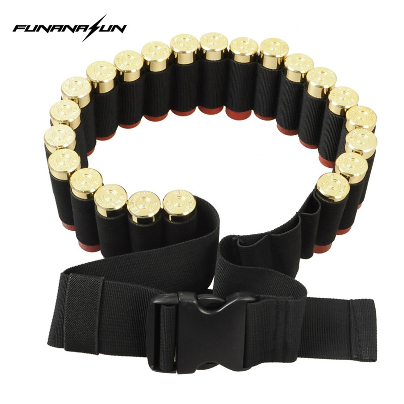 25 Runda 55 '' 12GA Shotgun Bandoliers Belt Ammunition Holder Eller 8 Rund Ammo Carrier Loop Taktisk Jakt Shotgun Cartridge