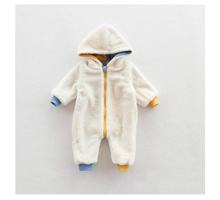 2efb968dd Winter Warm Fleece Baby Rompers 3D bear Hooded Newborn Clothes Baby ...