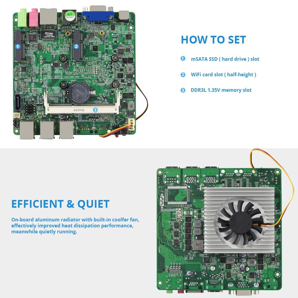 Windows 10 Мини ПК компьютер Intel Core i7 7500U i5 7200U i3 7100U 4K Поддержка HDMI VGA 300M WiFi Gigabit Ethernet Minipc NUC