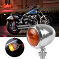 2 unids 12 V Motocicleta Turn Signal Indicator Lamp Light para Harley Chrome Scooter