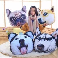 1 adet 40*40 cm Büyük 3D köpek yastık minder Pug Kaniş Husky Şarpi bulldog Yavru köpek yastıklar