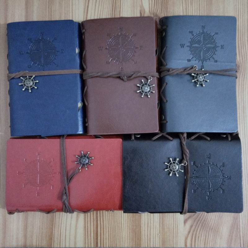 25 pcs 10 14 5cm vintage leaf faux Leather pirate cover travel journal notebook