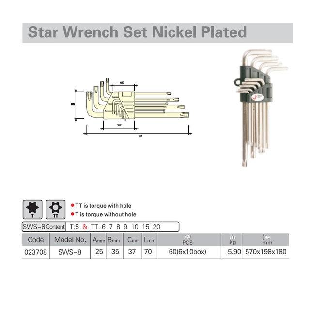 Jetech 8 pcs mini star end spanner set kits torx torx chave de image ccuart Image collections