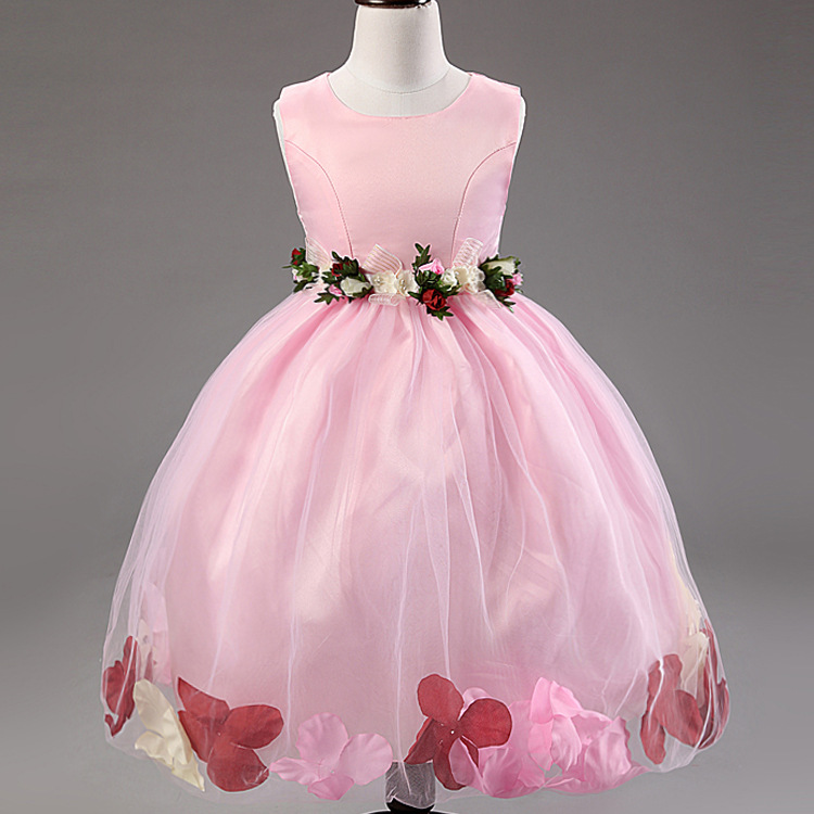 7f71ff51f0e Summer Korean version color petal hem small girls princess tutu dress  temperament kids dresses for girls Ball Gown