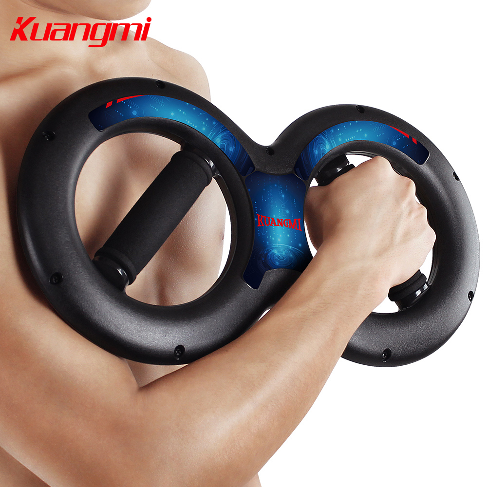 ФОТО Kuangmi Powerball 5kg 20kg 8 Shape Power Wrists Of Arm Wrist earm Strength ce Exerciser with Springs 1PC