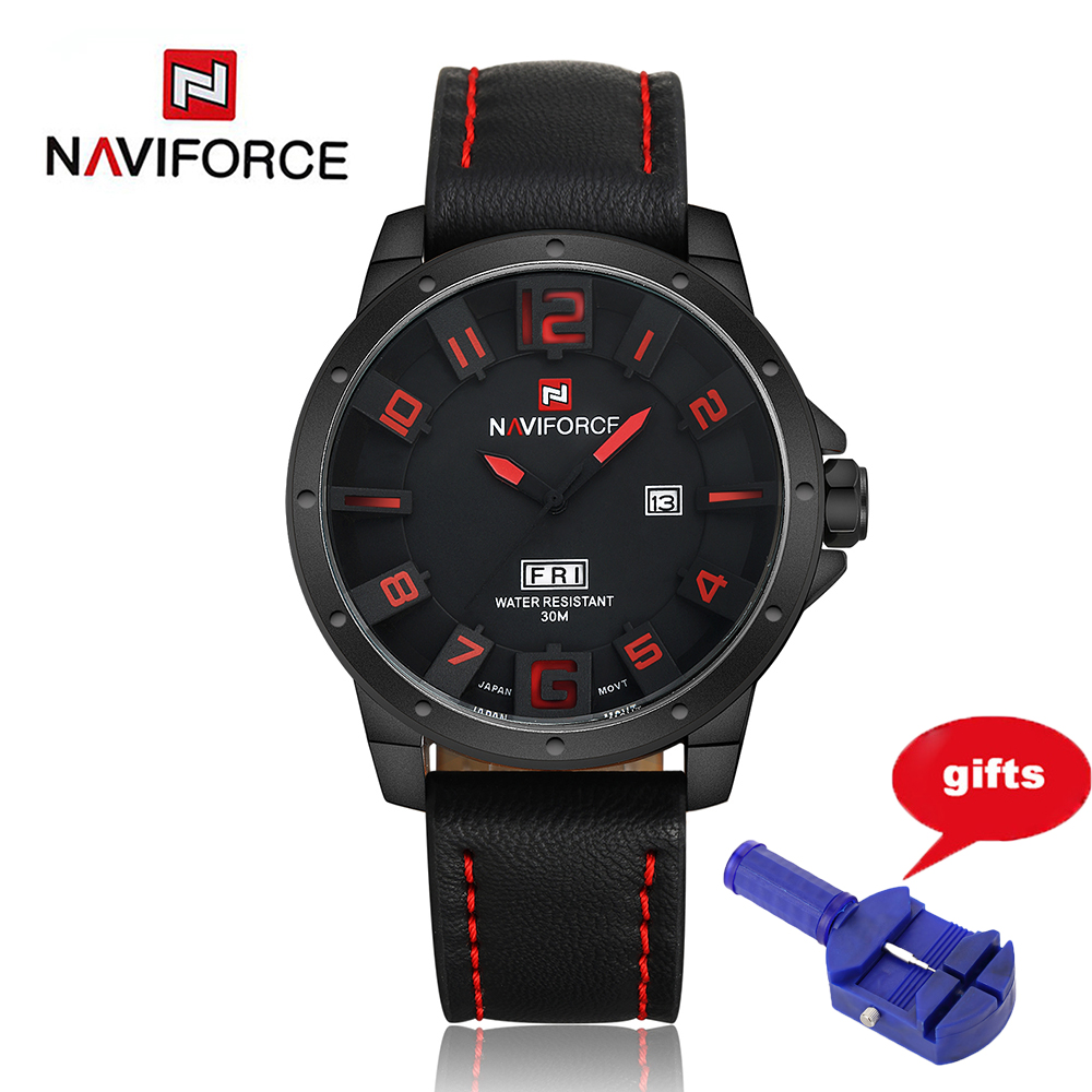 NAVIFORCE Luxury Brand Military Watches Men Quartz Analog 3D Face Leather Clock Sports Watches Men Army Watch Relogios Masculino top luxury brand naviforce fashion men watches quartz analog 3d face leather clock man sports watches army military wrist watch