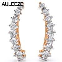 Artistic Romance Clip Earrings For Women Natural Real Diamond Earrings 14K Solid Rose Gold Fine Engagement Diamond Earrings