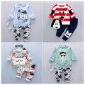 Совершенно новая Осенне детская мальчики одежда последние стиль высокого качества мальчик комплект одежды A057-85