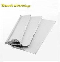 1Pair LOT H84 D500mm Metal Box Side Drawer Slide Runners Kitchen Bath Furniture Cabinet