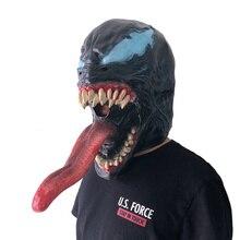 На заказ фильм Человек-паук 3 venom маска мужской косплей venom Человек-паук Герой вернуться. Marvel патруля Косплей helloween