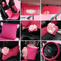 Female set auto upholstery supplies cd sun-shading board clip tissue box hand brake gear rearview mirror steering wheel cover
