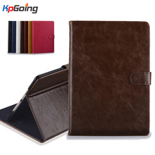 For Ipad 6 Ipad Air 2 Case Flip Stand PU Leather Card Slot Cover Business Style Case for Apple IPad Air 2 Fundas Black Brown