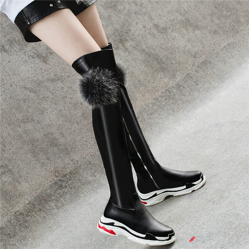 Grand black2 Équitation Le Sur Genou Chaussures Noir Med Talon Femmes Chaussons De Oxfords Black3 Bottes white3 Blanc Nayiduyun Cuisse Arbre Punk Baskets Haute black1 XZuPki