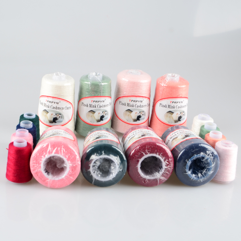Image 2 - TPRPYN 200g /lot With Free Partner Yarn thread to knit Mink cashmere wool yarn Mink knitting crochet line knitting NL164R147-in Yarn from Home & Garden