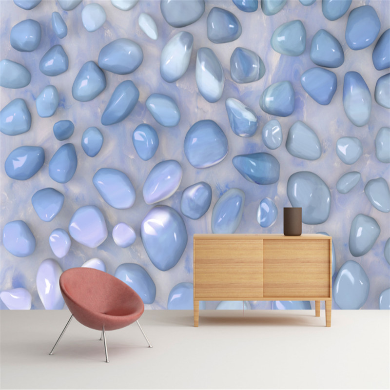 custom modern 3d photo non-woven wallpaper wall 3d mural wallpaper blue and simple 3d pebble marble texture background wall free shipping hepburn classic black and white photographs women s clothing store cafe background mural non woven wallpaper