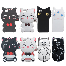 3D Cat Cases for iPhone 4S 5 5S 5G SE 6 6S Plus 7 8 PLUS X Soft Pocket Cat Phone Cover