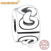 2019 Fashion 925 Sterling Silver Knotted Heart Clip Charms Fits Original Pandora Bracelet Necklace Engagement Accessories