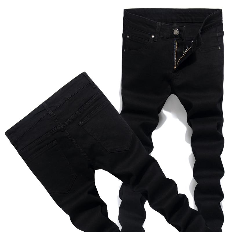 Fall Mens Jeans Blue & Black Can Choose Stretch Soft Denim Pants Male Size 28-36