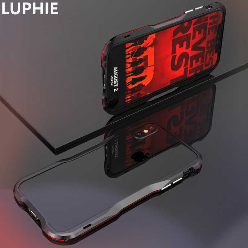 LUPHIE Voor iPhone XS Max Case Cover Luxe Slim Leuke Hard Metal Aluminium Shockproof Bumper Telefoon Case voor iPhone XR Case