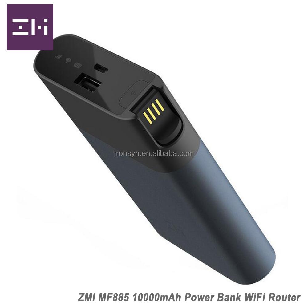 Batterie externe de routeur sans fil d'origine 150 Mbps ZMI MF885 3G 4G LTE avec Charge rapide QC2.0 et batterie 10000 mAh