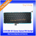 "NEW German Keyboard With Backlight For Macbook Pro 13"" A1278 2009 2010 2011 2012"