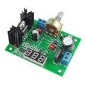 ETC-LM317 Regulador de Tensão Ajustável Step-down Módulo de fonte de Alimentação com Medidor de LED