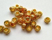 100pcs 14K Solid Golden Seamless Round Beads Round Rondelle Solid Brass Bead Rose Gold Silver Gunmetal