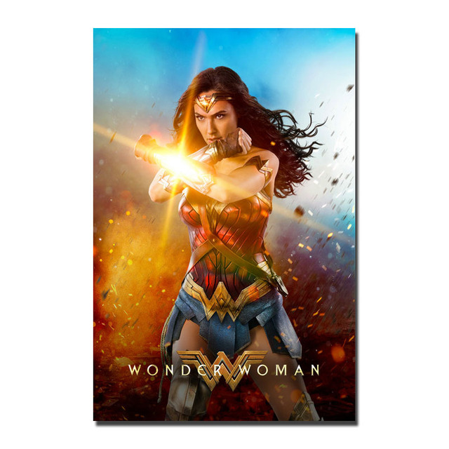 NEW 2017 WONDER WOMAN Gal Gadot Movie Silk Or Canvas Poster 13x20 24x36 Inch Pictures For