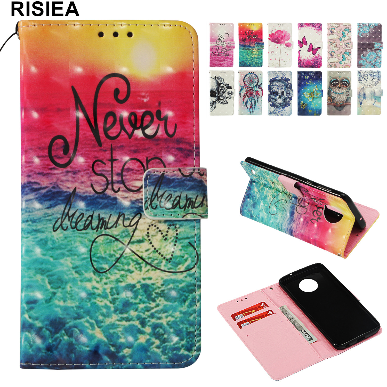 PU Wallet Leather Flip Phone Case For Motorola Moto C Plus G5 E4 E5 G6 G5S Plus Z2 Z4 Play Case Cover