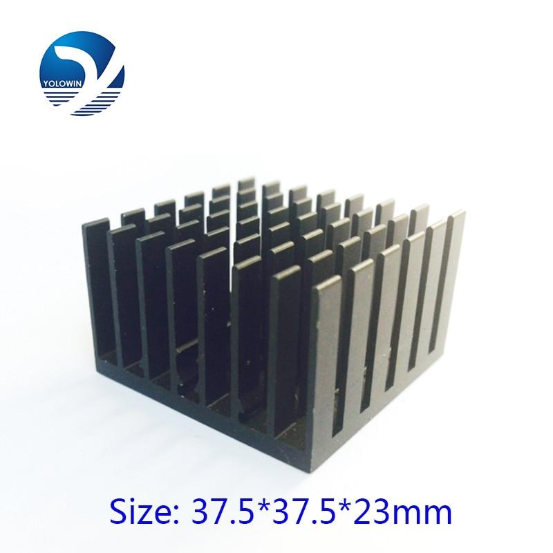 5 unids / lote Aluminio Enfriamiento pcs 37.5 * 37.5 * 23mm Chipset Disipador de Calor RAM Radiador Disipador de Calor Enfriador