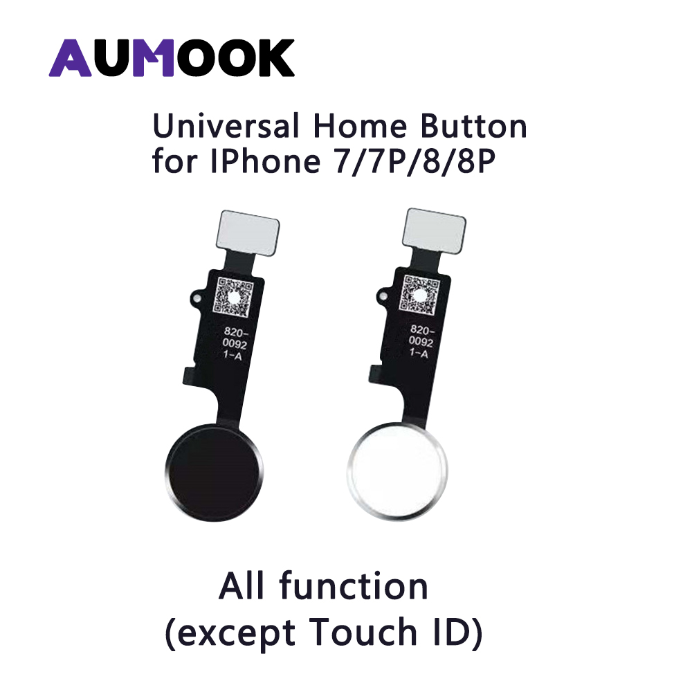 Universal Home Button For IPhone 7 7 Plus 8 8 Plus With Touch Return Screen Capture Function All Work Without Touch ID Function