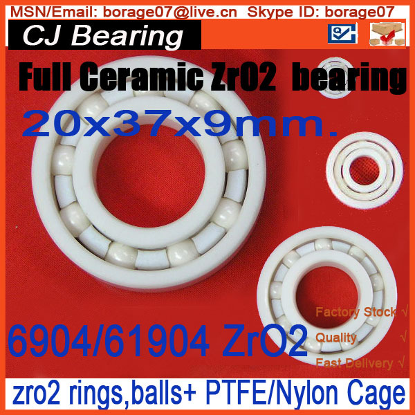 full ceramic bearing 6904 zro2 20x37x9mm thin section 61904 CE / 6904 rosenberg 6904